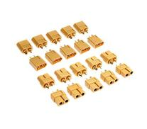 Yueton 10 Pairs Male and Female XT60 Bullet Connectors Plugs