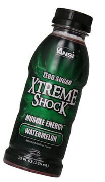 Ansi Xtreme Shock RTD Energy Drink, Watermelon, 12 oz., 12