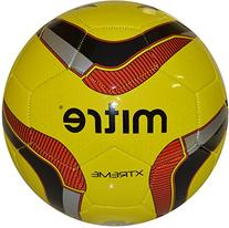 Mitre Xtreme Soccer Ball, Size 5 Fluoeresent Red/Black/