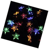OxyLED Y20 solar string lights,20LED, stars, multi-color