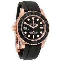 Rolex Yacht-Master Automatic Black Dial 18kt Everose Gold