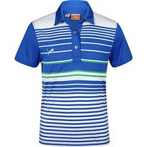 Puma Junior Yarn Dyed Stripe Polo, Strong Bue, Large