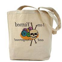 CafePress - Yarned and Dangerous Tote Bag - Natural Canvas