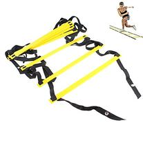 AGPtEK 8-Rung Agility Ladder 4 M Yellow & Black Durable For