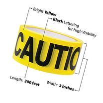 """Yellow Caution Barricade Tape 3"""" X 300' • Bright Yellow"""