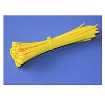 "Domire Pack Of 500 Yellow 8"" Plastic Cable Zip Ties"