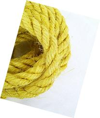 100' Yellow Sisal Rope, Dyed Citrus Yellow Color