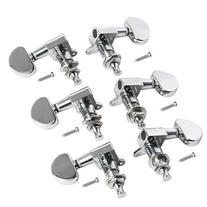 YMC Chrome-Tuning-Peg-Round-3L3R 6 Pieces 3L3R Acoustic