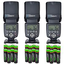 3 Pack YONGNUO YN560 IV YN-560IV Wireless Flash Speedlite