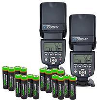 2 Pack YONGNUO YN560 IV YN-560IV Wireless Flash Speedlite