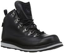 DVS Men's Yodeler Shoe,Black Leather,10 M US