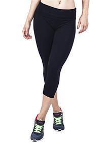 Popular Basics Women's Yoga Capri Pants with Fold Over Waist
