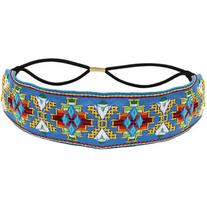 Yoins Retro Embroidered Flowers Headband in Light Blue