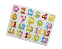 YouΞ Classic Wooden Numbers Puzzle Bundle Board