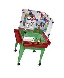 "Childbrite 24"" Youth 4-Station Space Saver Easel with Clear"