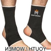 YOUTH / WOMEN'S ANKLE SUPPORTS BLACK - MEISTER MMA Muay Thai
