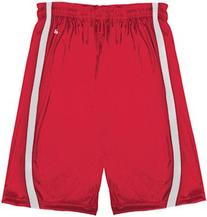 Badger Youth B-Slam Reversible 6 Short 2244 -Red/ White L