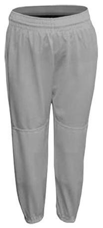 Grey Adult Large Baseball/Softball Pull-Up Pants with