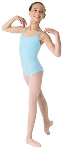 Bloch Youth Double Strap Cami Leotard, Pastel Blue-14