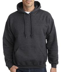 Gildan mens Heavy Blend 8 oz. 50/50 Hood-DARK HEATHER-XL