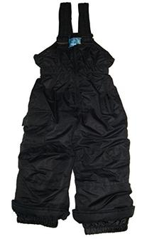 Pulse Little Girls Ski Bibs Snow Pants Insulated Black