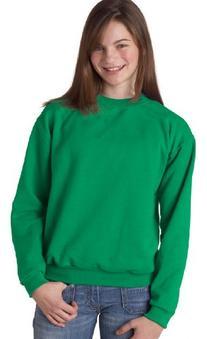 Jerzees Youth NuBlend® Crew Neck Sweatshirt - Kelly - M