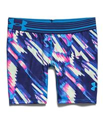 "Under Armour Girls' HeatGear Armour Printed Short - 5"", Jazz"