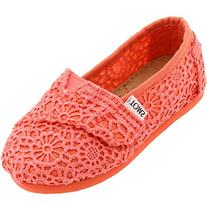 Toms Youth Coral Crochet Tn Clsc Alprg 10001854