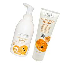 Acure Organics Yummy Baby 4-in-1 Foamer and Lotion Bundle
