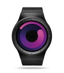 ZIIIRO Z0002WB3 Unisex Mercury Black Purple Watch
