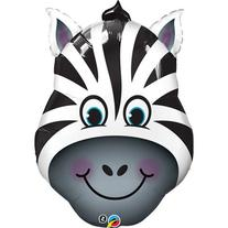 Qualatex Zany Zebra Shaped Jumbo Foil Balloon