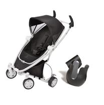Quinny Zapp Xtra Stroller with Folding Seat in Black Irony