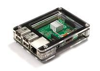 Zebra Case - Raspberry Pi B+ and 2B  Plus 3 Heat Sinks