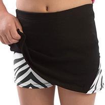 Pizzazz Girls Zebra Skirt With Boy Cut Shorts Dance Cheer 14