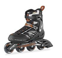 Rollerblade Men's Zetrablade 80 Skate, Black/Orange, US Size