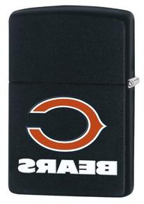 Zippo Lighter - NFL Chicago Bears Black Matte