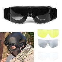 ZJchao Airsoft X800 Tactical Goggle Glasses Gx1000, Black/