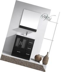 "Virtu Zola 30"" Single Bathroom Vanity Set with Mirror"