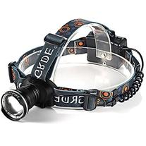 Zoomable LED Headlamp 900Lm 3 Mode Water-resistant Headlight