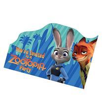 Zootopia Postcard Birthday Party Invitations