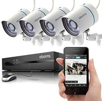 Zmodo 4CH 720P PoE NVR HD Security Camera System with 4